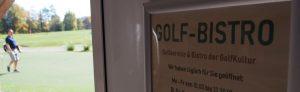 Eingangsschild zur Golfgastronomie