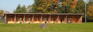 Abschlaghütten mit Heizung, auch für Linkshänder