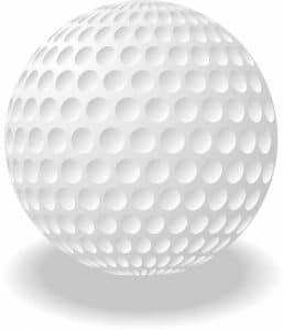 Weißer Golfball