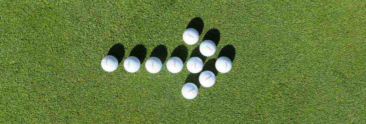GolfKultur Golfbälle als Pfeil