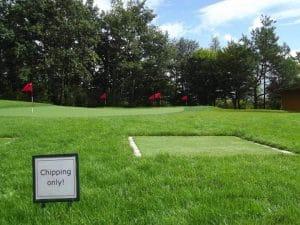 Chipping-Grün zum Golf lernen und trainieren